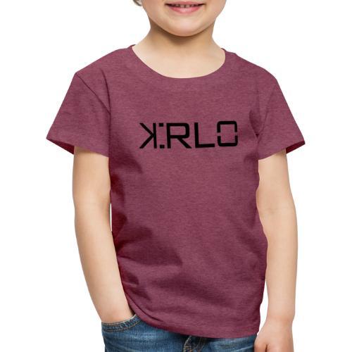 Kirlo Logotipo Negro - Camiseta premium niño