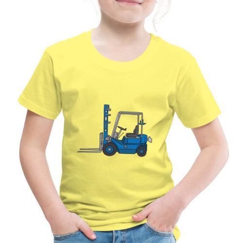 Blauer Gabelstapeler - Kinder Premium T-Shirt