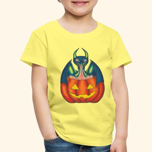 Drake med pumpa - Premium-T-shirt barn