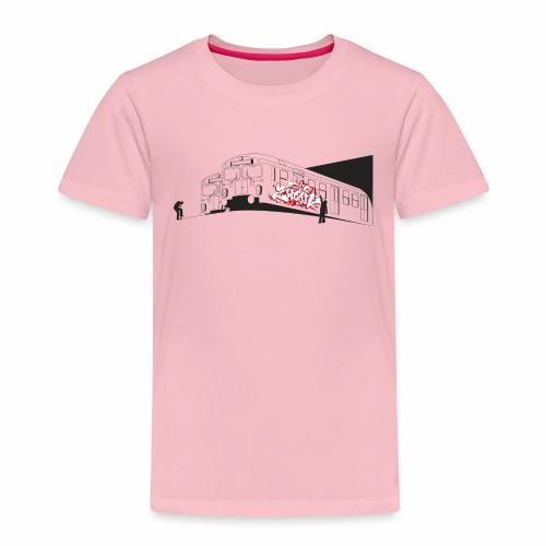 Throw up 2wear graffiti trains ver02 1 - Børne premium T-shirt
