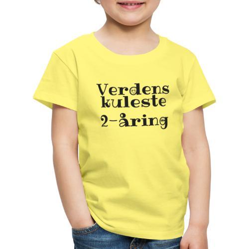 Verdens kuleste 2-åring - Premium T-skjorte for barn