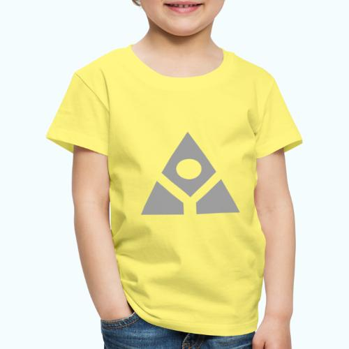 Sacred geometry gray pyramid circle in balance - Kids' Premium T-Shirt