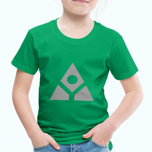 Sacred geometry gray pyramid circle in balance - Kids' Premium T-Shirt
