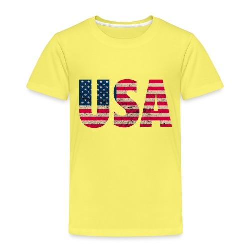 USA Amerika Stars and Stripes Used Look - Kids' Premium T-Shirt