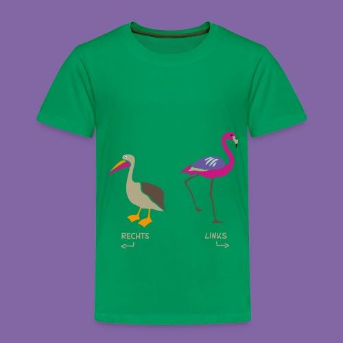Pelikan und Flamingo zum Rechts Links Lernen - Kinder Premium T-Shirt