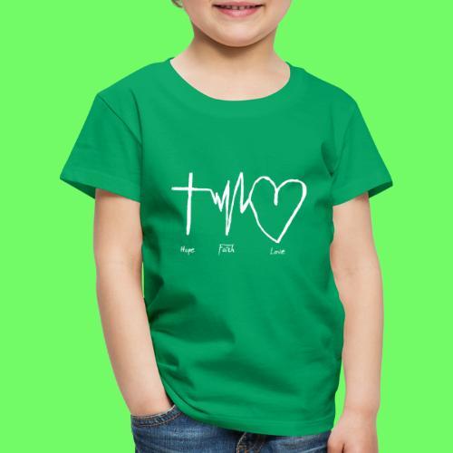 Hoffnung Glaube Liebe - hope faith love - Kinder Premium T-Shirt