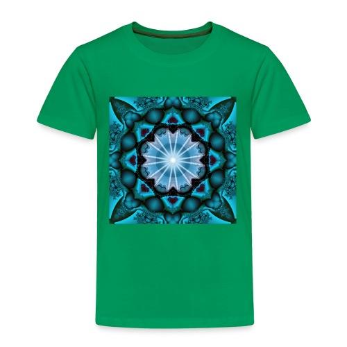 türkieses Fraktal - Kinder Premium T-Shirt