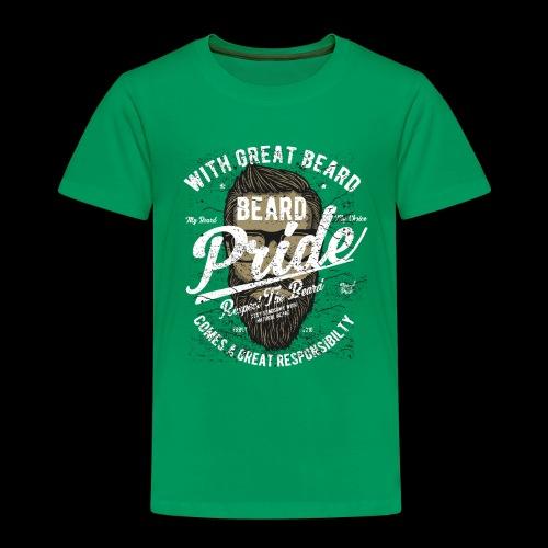 Beard Pride - Stolzer Bartträger - Kinder Premium T-Shirt