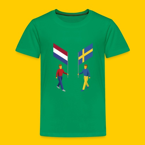 Walking with flags - Kinderen Premium T-shirt