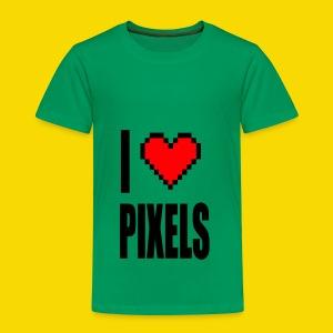 I Love Pixels - Koszulka dziecięca Premium