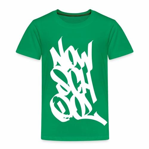NowSchOol Marker Design (White) - Kids' Premium T-Shirt