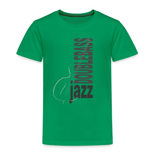 Jazz Double Bass - Maglietta Premium per bambini