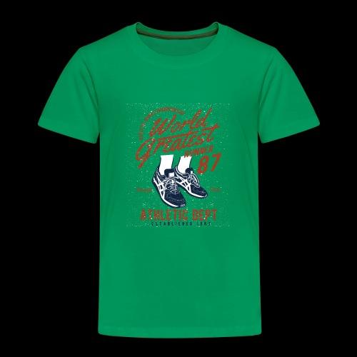 World Greatest Runner - Kinder Premium T-Shirt