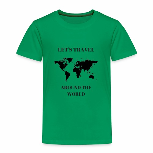 Travel Around The World - T-shirt Premium Enfant