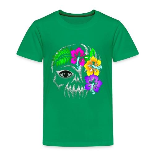 Alien Flower Skull - Kinder Premium T-Shirt