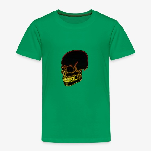 Funky red and yellow neon skull - Kids' Premium T-Shirt
