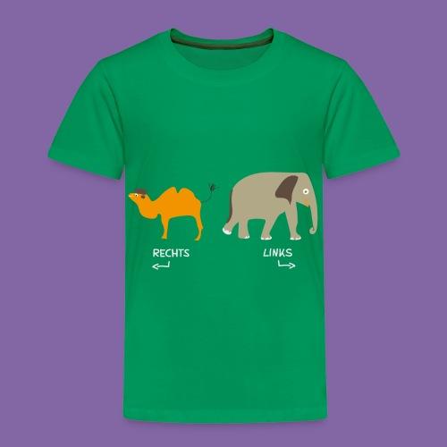 Rechts Links Lernen mit Kamel Elefant T-Shirt - Kinder Premium T-Shirt