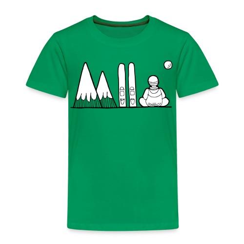 ski et montagnes - T-shirt Premium Enfant