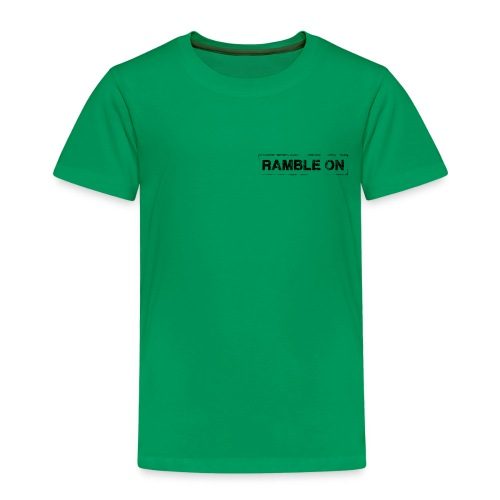 Ramble On Stamp - Kids' Premium T-Shirt