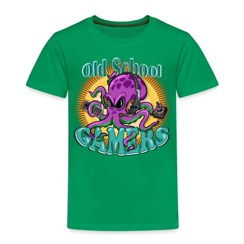 Old School Octopus Gamers - Camiseta premium niño
