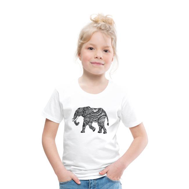 Elefant, gemustert