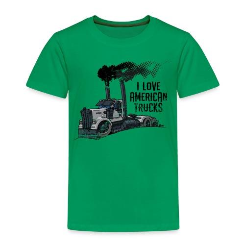 0789 American truck ROUGH smoke - Kinderen Premium T-shirt