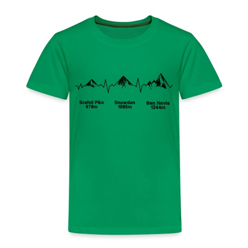 ECG Thee Peaks Light Background - Kids' Premium T-Shirt