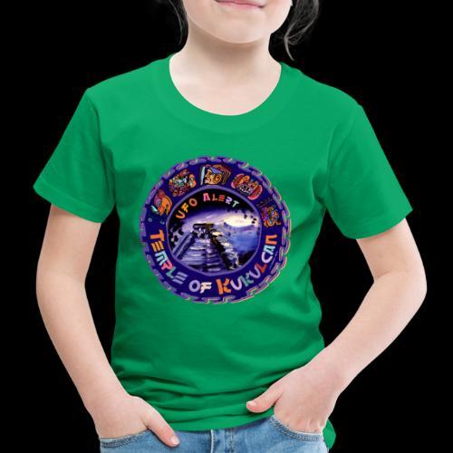 Temple of Kukulcan, UFO Alert, Chichen Itza Design - Kinder Premium T-Shirt