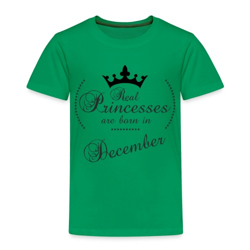 Real Princesses black December - Kinder Premium T-Shirt