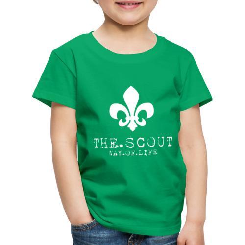 THE.SCOUT.WAY.OF.LIFE Typewriter mit Lilie Weiß - Kinder Premium T-Shirt