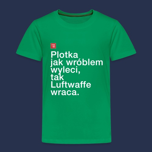 plotka - napis jasny - Koszulka dziecięca Premium