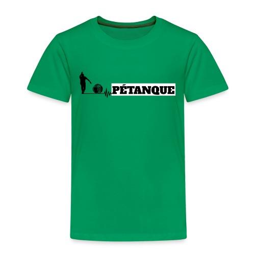 Pétanque Sport Schrift Texst Shirt - Kinder Premium T-Shirt