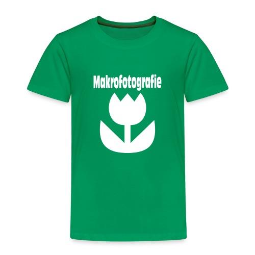 Wort Makrofotografie Icon Symbol Blume weiß - Kinder Premium T-Shirt