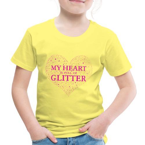Herz Glitzer - Kinder Premium T-Shirt