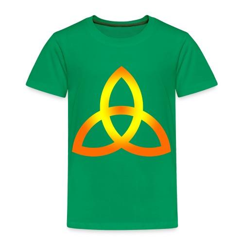 Orangegoldene Triquetra - Kinder Premium T-Shirt