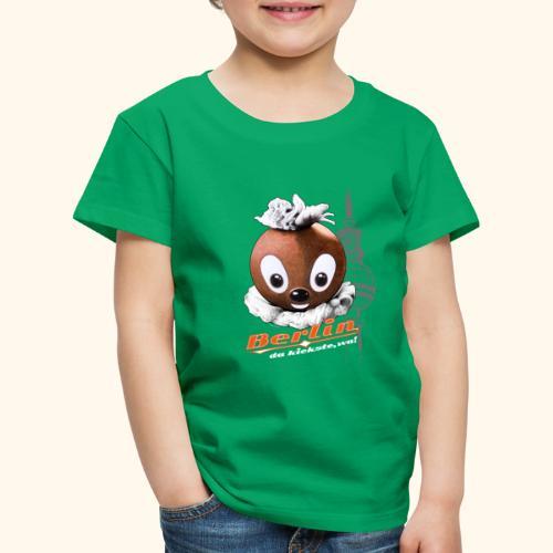 Pittiplatsch 3D Berlin auf dunkel - Kinder Premium T-Shirt