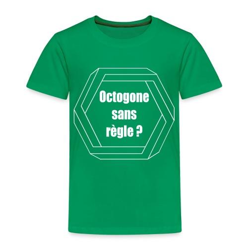 Octogone sans règle? Design blanc - T-shirt Premium Enfant