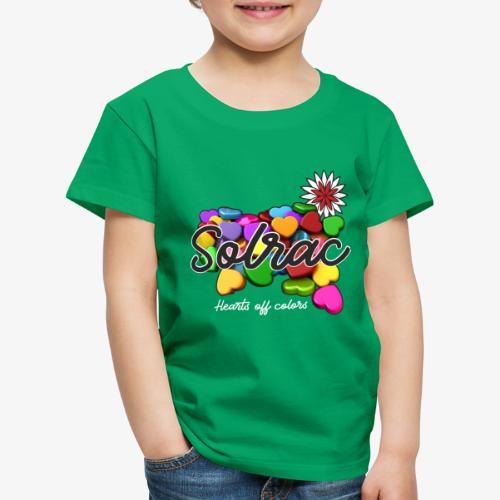 SOLRAC Hearts black - Camiseta premium niño