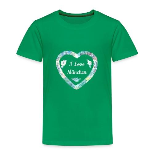 I Love München - Kinder Premium T-Shirt