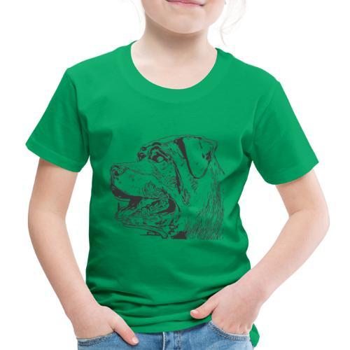 Rottweiler Mund offen schwarz - Kinder Premium T-Shirt