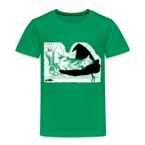 Tyrrin Hexenkater auf Hut (grün) - Kinder Premium T-Shirt