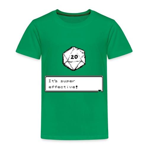 Kriittinen osuma d20 Super Effective! - D & D Dnd - Lasten premium t-paita