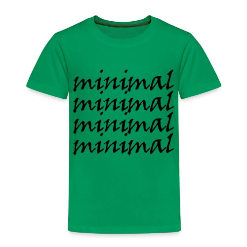 Minimal Design - Kinder Premium T-Shirt