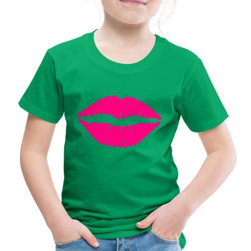 mund Lipen hel pink - Kinder Premium T-Shirt