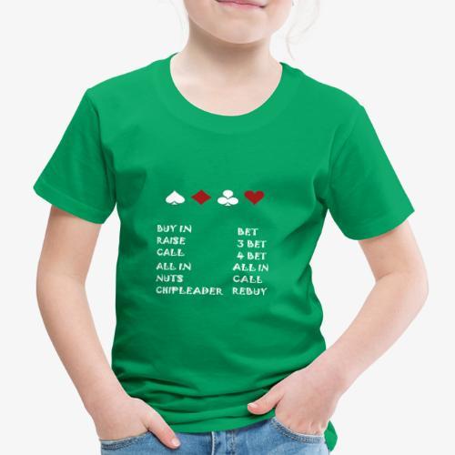 POKER VOKABEL HOLDEM CARDS - Kinder Premium T-Shirt