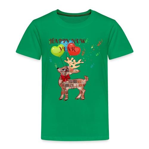 Rudolph Santa HAPPY NEW YEAR 2019 - ZERO - T-shirt Premium Enfant