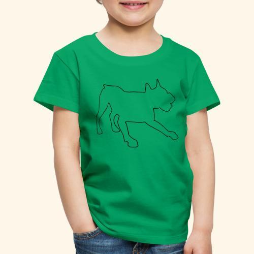 Konturgrafik spielende Dogge - Kinder Premium T-Shirt
