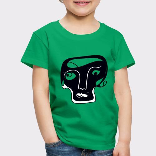 Totenkopf Blau Line Art Stil Geschenkideen - Kinder Premium T-Shirt
