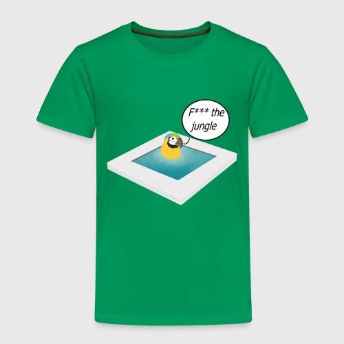 Pappagallo nella piscina - Maglietta Premium per bambini