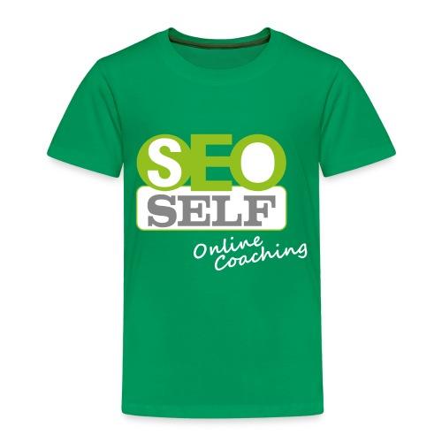 SEO SELF Logo mit weißer Subline - Kinder Premium T-Shirt